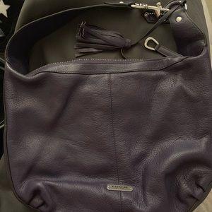 Beautiful plume purple coach bag